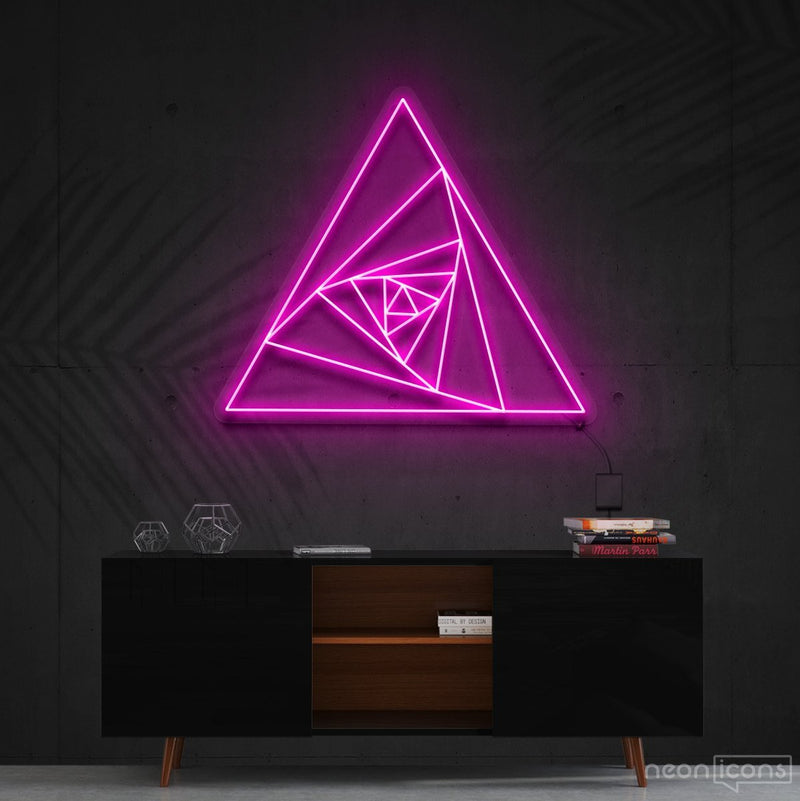 """Triangle Shutter"" Neon Sign 60cm (2ft) / Pink / Cut to Shape by Neon Icons"