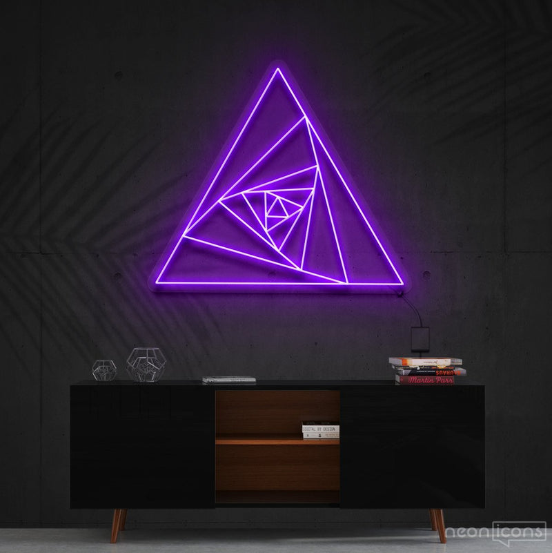 """Triangle Shutter"" Neon Sign 60cm (2ft) / Purple / Cut to Shape by Neon Icons"