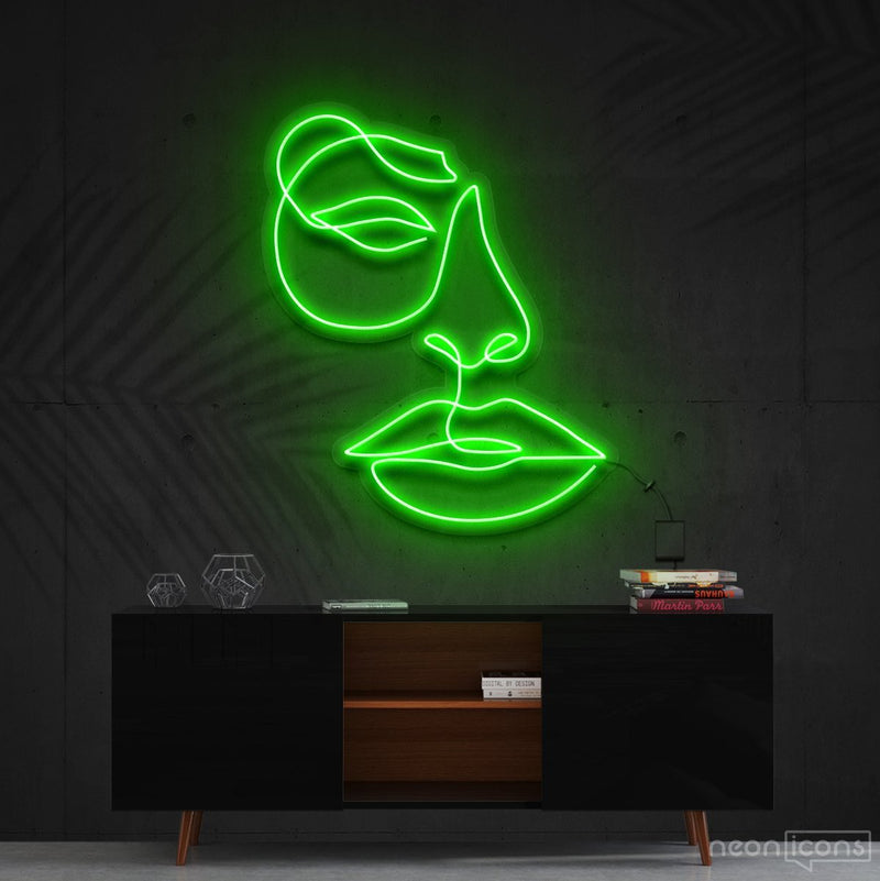 """Unimpressed"" Neon Sign 60cm (2ft) / Green / Cut to Shape by Neon Icons"