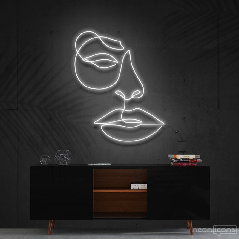 """Unimpressed"" Neon Sign 60cm (2ft) / White / Cut to Shape by Neon Icons"
