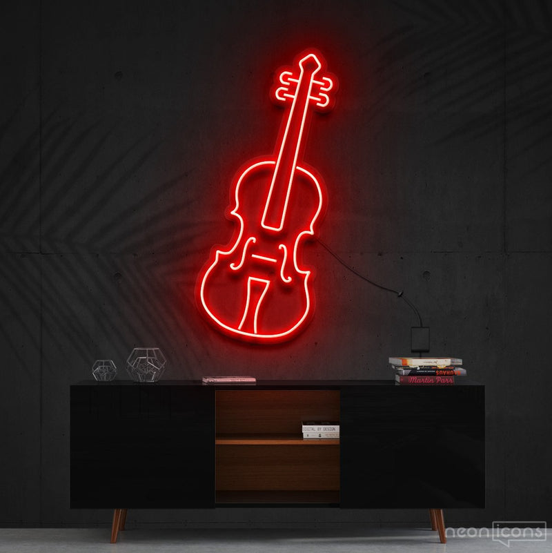 """Violin"" Neon Sign 60cm (2ft) / Red / Cut to Shape by Neon Icons"