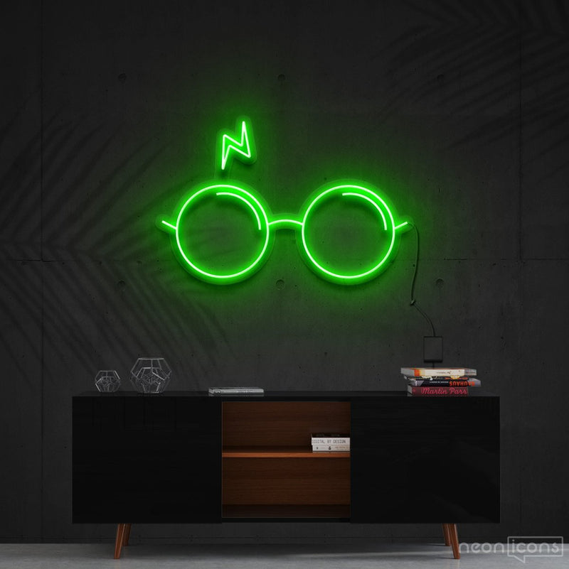 """You're a Wizard, Harry"" Neon Sign 60cm (2ft) / Green / Cut to Shape by Neon Icons"