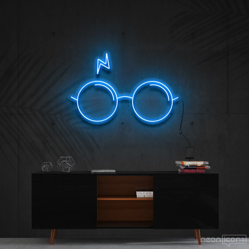 """You're a Wizard, Harry"" Neon Sign 60cm (2ft) / Ice Blue / Cut to Shape by Neon Icons"