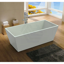 Load image into Gallery viewer, Rectangular Freestanding Bathtub White