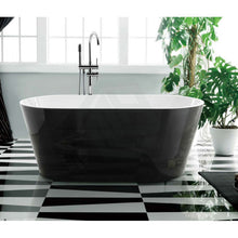 Load image into Gallery viewer, Oval Bathtub Freestanding White & Black
