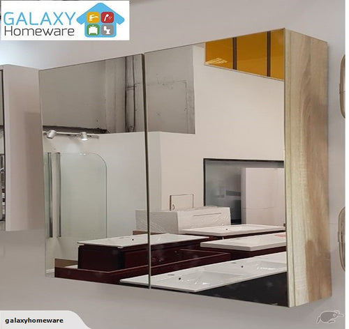 Plywood Mirror Cabinet 750MM