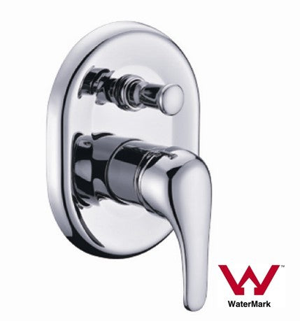 Shower Mixer with Diverter Round