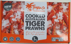 COOKED AUSTRALIAN TIGER PRAWNS (3KG XL)