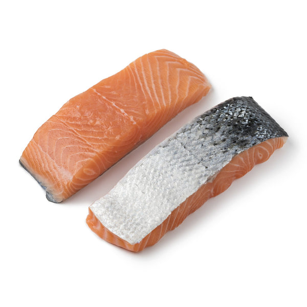 SALMON PORTIONS SKIN ON (200GR)