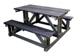 (RP2) THE KILIMANJARO BENCH (WIDER TABLE TOP)