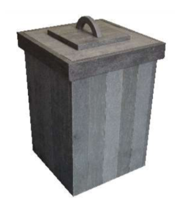 (RP9Q) TOP LOADING DUST BIN