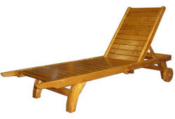 (F6) DELUXE POOL LOUNGER WITH WHEELS & HANDLES (TIMBER)