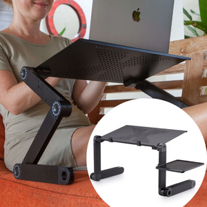 Ergonomic Adjustable Laptop Table - LookNoFurther.ca