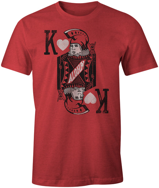 KING HEART Unisex Red Tee
