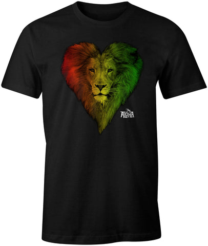 ALOHA LION Custom Unisex Black Tee