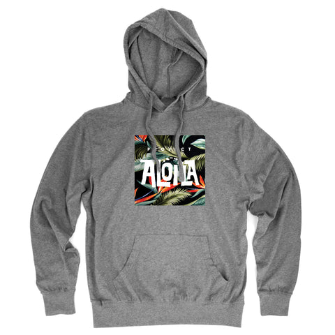 PARADISE Heather Gray Jersey Hoodie