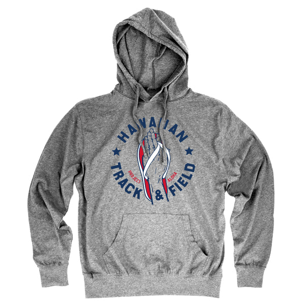 TRACK Heather Gray Jersey Hoodie