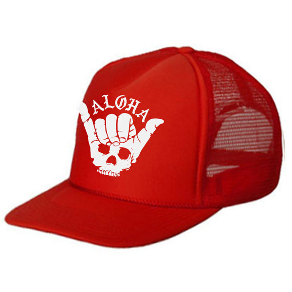 SHAKA SKULL Red Kids Trucker