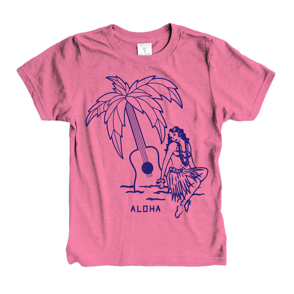 ROCK-A-HULA Pink Kids Tee