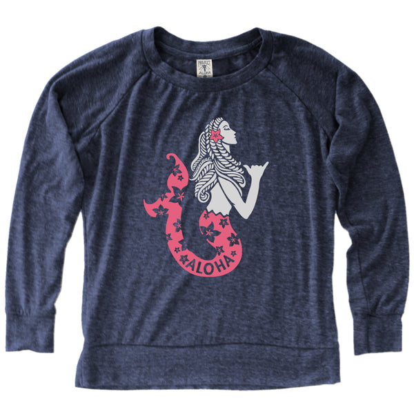 SEA MAIDEN Heather Navy LS Jersey
