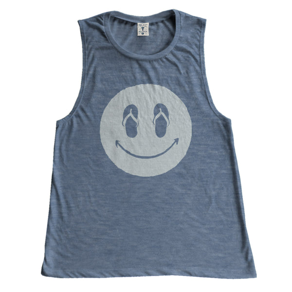 SLIPPAH HAPPY Muscle Tee