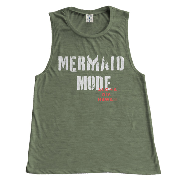 MODE Olive Muscle Tee