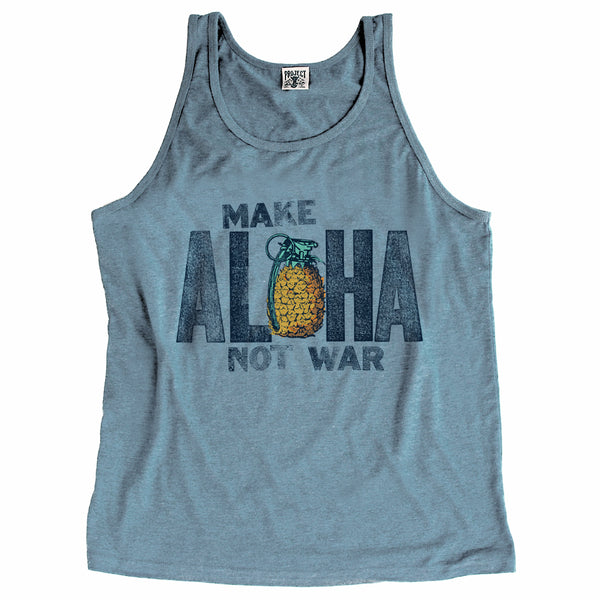 MAKE ALOHA Blue Heather Tank