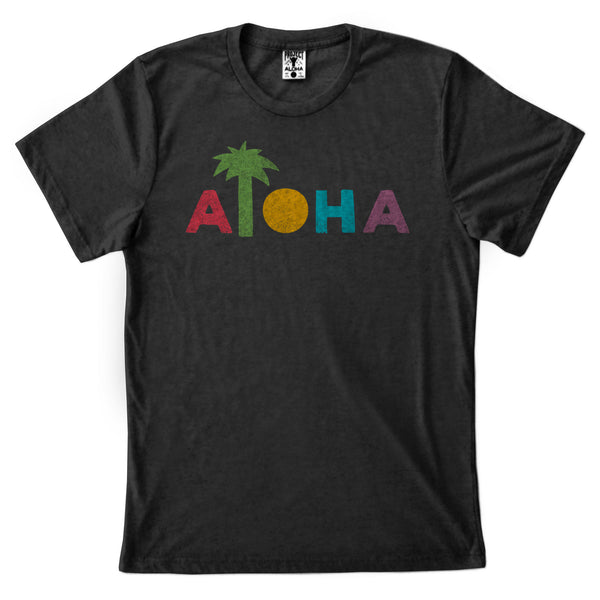 COLOR PALM Black Tee