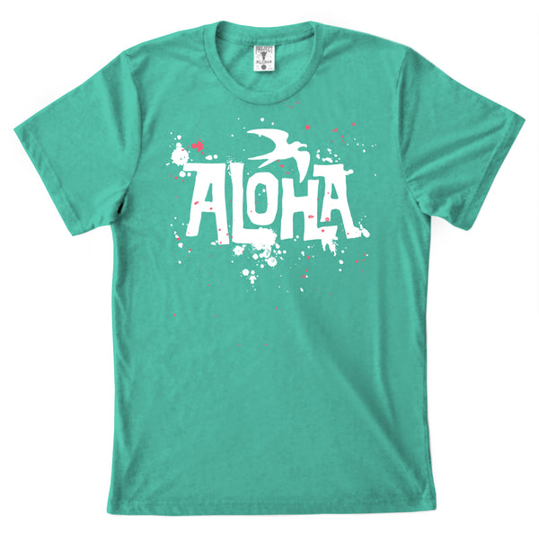 SPLATTER Sea Green Tee