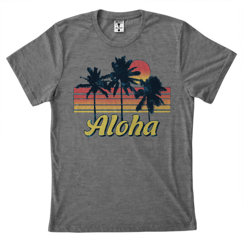 SUNSET Heather Gray Tee