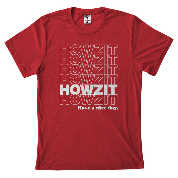 HOWZIT STACK Red Tee