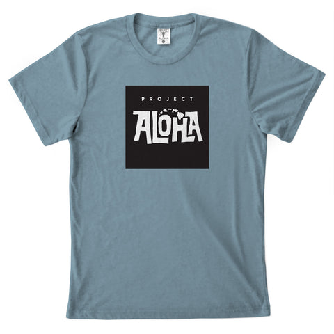 POHAKU BOX Denim Blue Tee