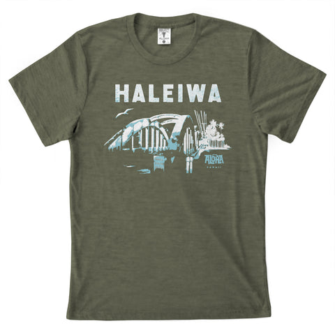 THE BRIDGE Unisex Olive Tee