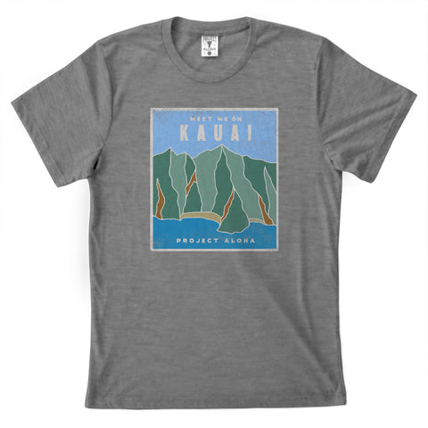 NA PALI Heather Gray Tee