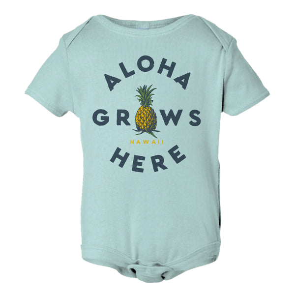 GROWS HERE Ice Blue Onesie