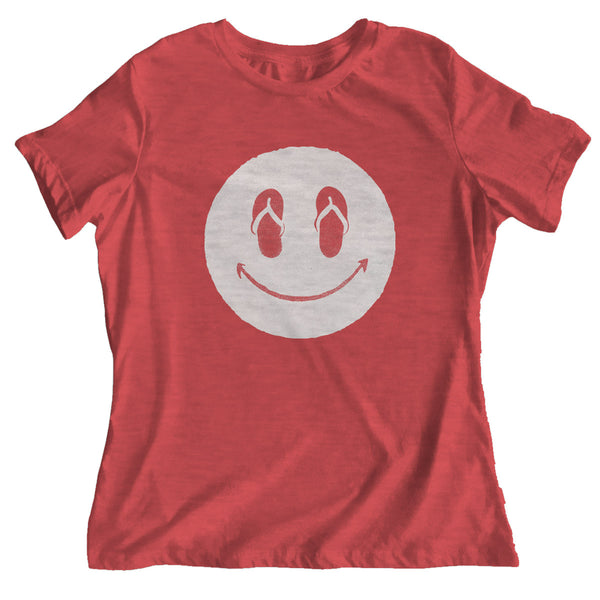 SLIPPAH HAPPY Red Relaxed Tee