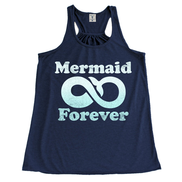 MERMAID 4EVER Navy Racerback Tank