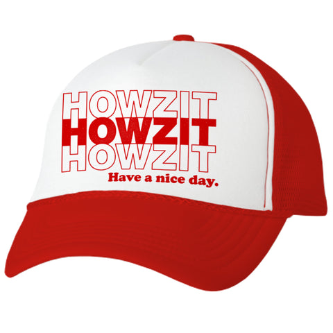 HOWZIT STACK Red Adult Trucker