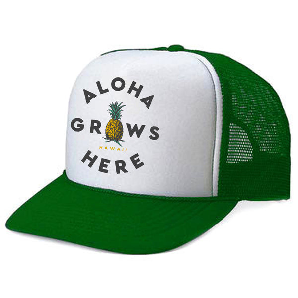 GROWS HERE Green Adult Trucker