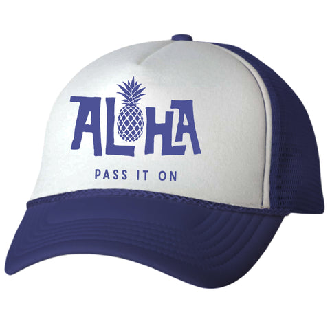 PINEAPPLE Navy Adult Trucker