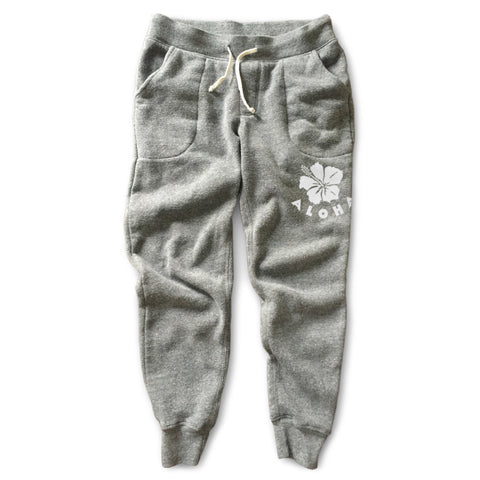 HIBISCUS Gray Fleece Pant