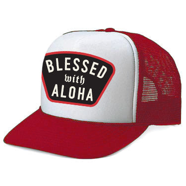 BLESSED Red Adult Trucker