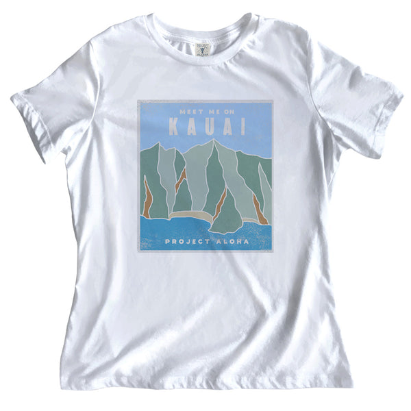 NA PALI White Relaxed Tee