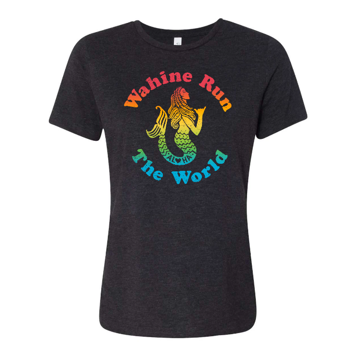 RAINBOW WAHINE Custom Womens Relaxed Tee