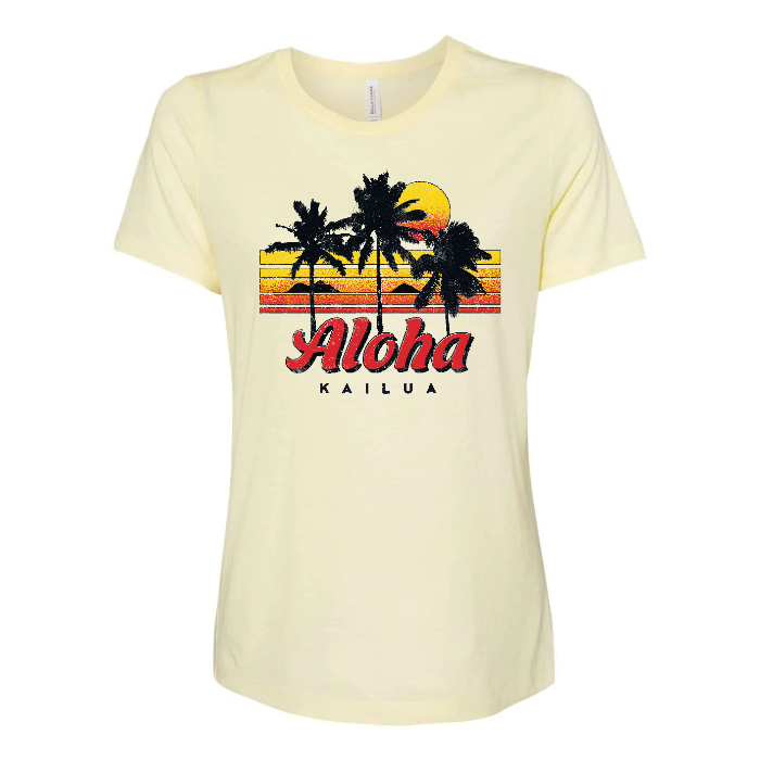 KAILUA SUNRISE Custom Womens Relaxed Tee