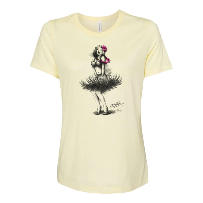 HULA SKIRT Custom Womens Relaxed Tee