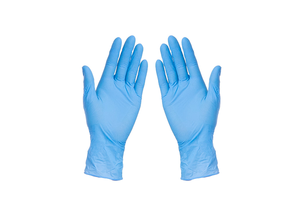 Blue Nitrile Gloves M/L/XL