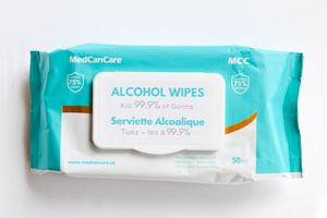 MedCanCare Alcohol Sanitizing Wipes (2000 wipes - 40 packs of 50)