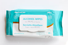 Load image into Gallery viewer, MedCanCare Alcohol Sanitizing Wipes 5 PACKS OF 50