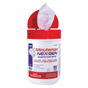 Maxill TB Minute Man NEX GEN Disinfectant Wipes (6 tubs of 160 wipes/tub)